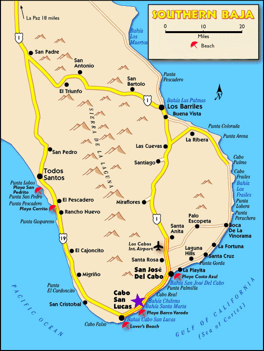 Cabo San Lucas Maps | Los Cabos Map | Driving Directions ...